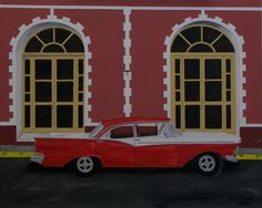 """Oil painting titled """"Vintage Cuba - Trinidad"""", done on a 16"""" x 20"""" x 1.5"""" canvas. Frame not required, painted image wraps around. Available at www.etsy.com/shop/apaintedcanvas"""