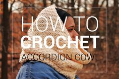 Crochet Pattern Download | ACCORDION COWL | Crochet Chunky Hooded Cowl Pattern