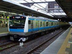 Japanese JR East Type E233-1000 EMU test run Omiya, Japan