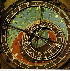 the hermitage: The Prague Astronomical Clock or Prague Orloj Unique Clocks, Cool Clocks, Big Clocks, Time Zone Map, Time Zones, Prague Astronomical Clock, The Time Machine, Mandala, Old Things