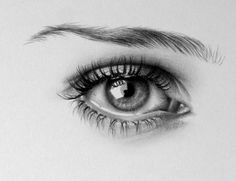 Ileana Hunter - pencil eye drawing - this is a drawing? oh. my. cupcakes.