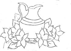 pintura em tecido jarro - Pesquisa Google