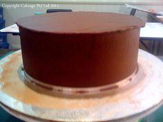 ~ Sugar Teachers ~ Cake Decorating and Sugar Art Tutorials: Ganaching a Cake--The Upside Down Method by Eleanor Heaphy