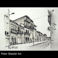 Painted on location on another typical street in this beautiful city…