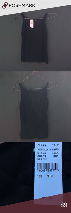 Black Stretchy Pacsun Tank Top NWT black ribbed stretchy tank top from Pacsun. Looks a little grey in some of the pictures but is actually black. Super comfortable. PacSun Tops Tank Tops