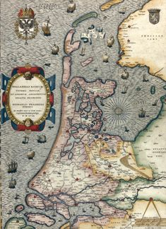 "Rare. The earliest ""Lafreri-school"" map of Holland. Jan van Deventer"