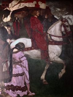 Galahad Leaving the Castle of the Grail by Edwin Austin Abbey