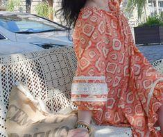 Sukienka w stylu boho uszyta z wykroju Burda 07/2020 model 112