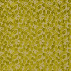 Calaggio Floral Velvet Fabric in Chartreuse green from Designers Guild Savio Fabrics Collection. A gorgeous cut velvet fabric featuring a leaf and bud floral design on a natural linen blend background. Designers Guild, Green Table, Luxury Home Decor, Curtain Fabric, Natural Linen, Fabric Design, Floral Design, Upholstery, Velvet
