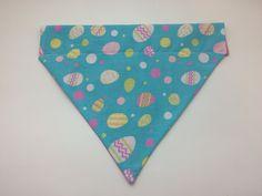 Pet Bandana - Blue Easter Eggs - Over-the-Collar - Custom by HemptressDesigns on Etsy