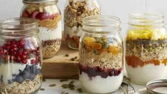 Great make-ahead oatmeal fruit and yogurt jars Add your favorite liquid (almond milk or apple or pomegranate juice) shake and enjoy! Click the image for more info. Mason Jar Meals, Meals In A Jar, Mason Jars, Agaves, Fruit Smoothies, Smoothie Recipes, Healthy Breakfast Recipes, Healthy Recipes, Breakfast Ideas