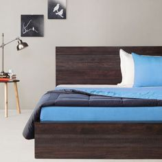 Elmwood August King Bed Walnut - Live life King Size A rare fusion of rich traditional craftsmanship and contemporary styling, this king size bed has