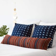 Modern Lumbar Decorative Pillow | Colorful Striped Pattern   – The Citizenry