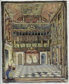 Brambly Hedge - two little mice explore a grand mousie hall. By Jill Barklem.