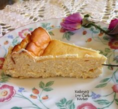 Kathryn's Low Carb Kitchen~Kat's Cheesecake (crustless)  ~ Per 1/12 of total: 242 Cals & 2g Carbs.