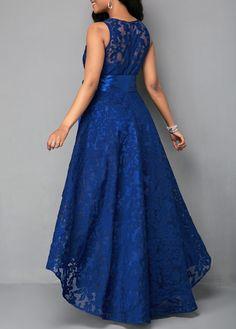 Lace Sleeveless A-line Asymmetrical Vintage/Party/Elegant Dresses Vestidos High Low, Vestidos Plus Size, Vestidos Sexy, Short Beach Dresses, Prom Dresses, Dress Prom, Dress Long, Belted Dress, Lace Dress