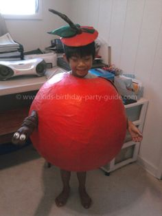 worm in apple costume - Apple Halloween Costumes