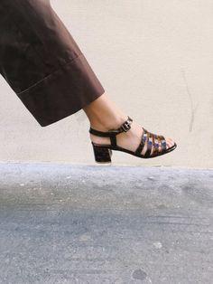 promo code cccf5 25245 Palma Low Sandals Tacones De Cuero, Dedos Del Pie, Colección De Zapatos