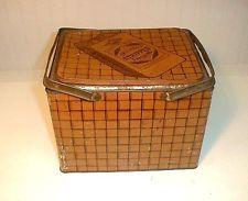 Vintage Lorillard's Stripped Tobacco Lunch Box Tin - 1920's
