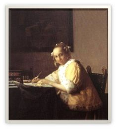 Johannes Vermeer - A Lady writing a letter 1665