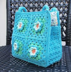 Granny Square Bag ... by SOPHIE AND ME | Crocheting Pattern
