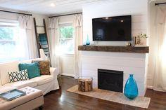 Home Update: Shiplap Fireplace @tilleysthreads