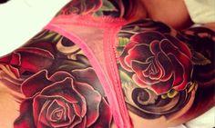 Cheryl Cole's tattoo. English Rose all the way. By Nikko Hurtado