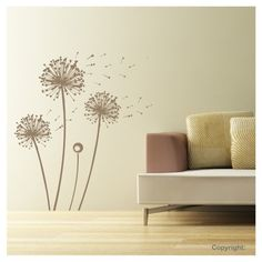Dandelion Wall Design #wall #design +++For more quotes on #life, visit http://www.quotesarelife.com/