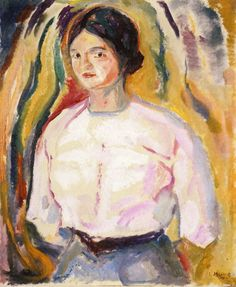 The Athenaeum - Ingeborg with Her Arms behind Her Back (Edvard Munch - ) 1913