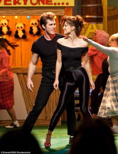 Grease is the word: Blake and Melissa starred as Danny and Sandy when Glee did its version...