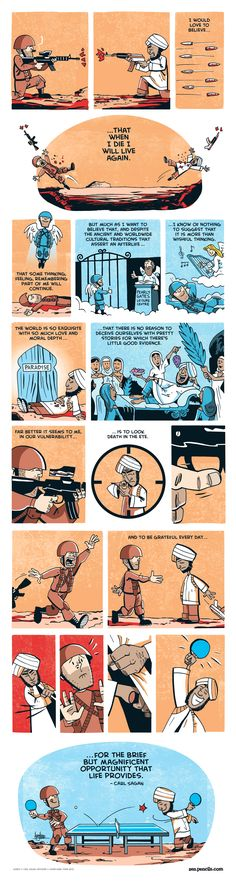 "Carl Sagan's ""Make the most of this life."" /by zenpencils"