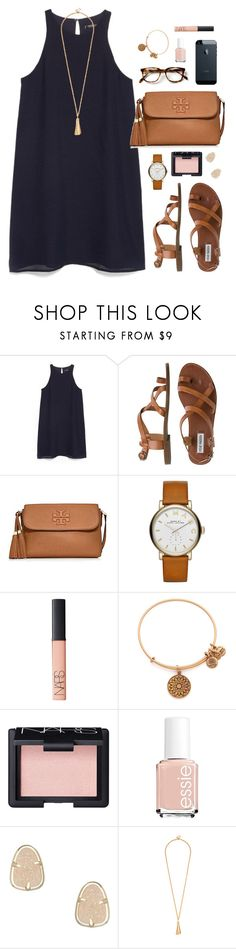 """work"" by classically-preppy ❤ liked on Polyvore featuring MANGO, Steve Madden, Tory Burch, Marc by Marc Jacobs, NARS Cosmetics, Alex and Ani, Essie and Kendra Scott"