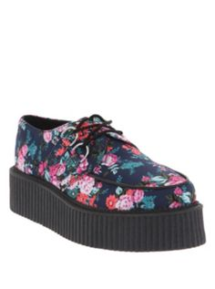 YOU DONT KNOW HOW MUCH I NEED THESE. T.U.K. Floral Mondo Creepers