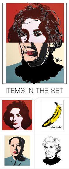 """Andy Warhol"" by lianafourmouzi ❤ liked on Polyvore featuring art"