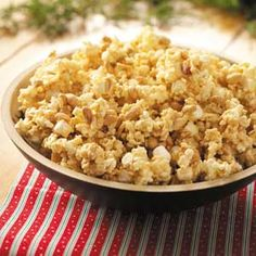 Popcorn Delight - This recipe sounds delicious! Great to take with you to potlucks since it makes quite a bit. Good combination of sweet and salty! Can't wait to try!