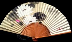 Japanese Hand Fan Lotus Flower in White Pink by VintageFromJapan #lotus #flower…
