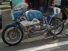 Blue BMW Racer.