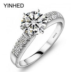Buy now Send Certificate of Silver ! 100% 925 Sterling Silver Wedding Rings For Women Luxury 1 Carat CZ Diamant Engagement Ring ZP68 just only $8.49 with free shipping worldwide  #weddingengagementjewelry Plese click on picture to see our special price for you