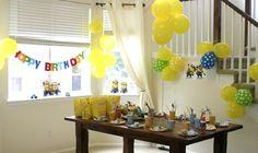 "Photo 16 of Minions / Birthday ""Minion (Despicable Me) Party"" Minion Party Theme, Despicable Me Party, Minion Birthday, 2nd Birthday Parties, Birthday Fun, Kid Parties, Birthday Ideas, Party Gifts, Party Planning"