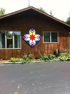 Stars and bars barn quilt. Beautiful on a garage by PYsBarnQuilts