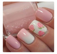 Opting for bright colours or intricate nail art isn't a must anymore. This year, nude nail designs are becoming a trend. Here are some nude nail designs. Pink Nail Art, Cute Nail Art, Fancy Nails, My Nails, Shellac Nails, Acrylic Nails, Nail Polish, Nails 2017, Classy Nails