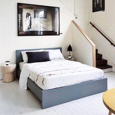 Mark Tuckey custom-painted warehouse bed