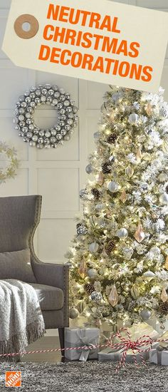 Create a dreamy winter wonderland with white, gold and cream ornament styles. Choose from various unique ornament designs in matte and glitter finishes for an exquisitely festive look. Click to shop neutral tree decorations.