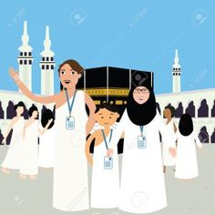 We live in Jeddah and we went to `Umrah. When we reached Makkah suddenly, I got menses (unexpectedly). I didn't perform `Umrah. Islamic Events, Pillars Of Islam, Love In Islam, Buch Design, Islamic Paintings, Watercolor Galaxy, Islamic Girl, Islamic Pictures, Muslim Couples
