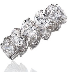 Heart shaped diamonds - eternity ring. #Wedding. @Celebstylewed