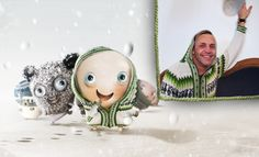 Alex-Jonny Stitch's blue eyes sparkle in his cozy alpaca wool hoodie. He's ready to go play in the snow with all his new Stitches friends! Yippee!