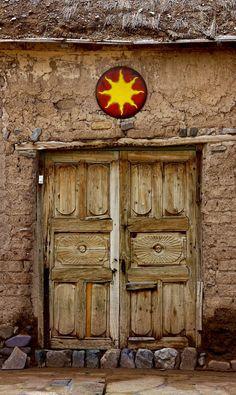 Yavi, Jujuy, Argentina Cool Doors, Unique Doors, Stairs Window, Doorway, Portal, Knobs And Knockers, Door Knobs, Gates, The Doors Of Perception
