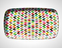 Add some color to your kitchen with this platter.