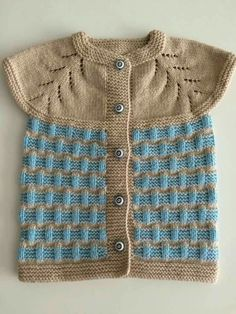 Diy Crafts - Color,easy-Very Easy Two Color Vest Knitting Pattern Baby Pullover, Baby Cardigan, Easy Knitting Patterns, Knitting Designs, Toddler Boy Outfits, Kids Outfits, Little Girl Fashionista, Knit Vest Pattern, Fashion Jobs