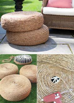 Ways to use rope to create backyard decor